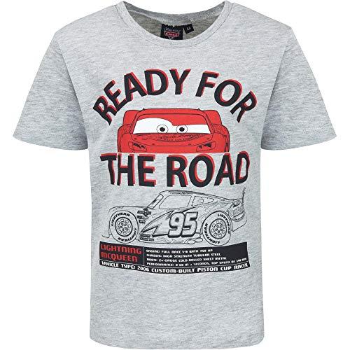 Palleon T-Shirt Manica Corta per Ragazzi Grigio (grigio 2) 3 anni