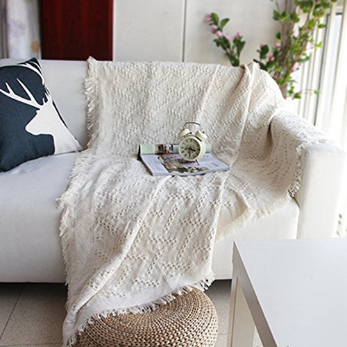 かえるの家 北欧風 綿100% ソファーカバー ベージュ 無地 厚手 防塵 シンプル 四季通用 マルチカバー (長方形柄, 230*250cm)