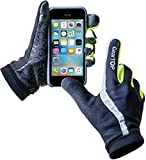 GearTop Reflective Gloves for Men and Women, Small Running Gloves for Cold Weather, Biking, Driving & More, Multi-Purpose Reflection Gloves for All Weather Condition - Small