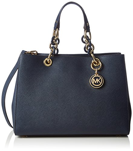 """13""""W x 8.25""""H x 5.50""""D Double Handle with strap drop of 6.25"""" Additional cross-body strap with strap drop of 22"""" Fashion Trend: Top-Handle Bag Leather Satchel Magnet Closure"""
