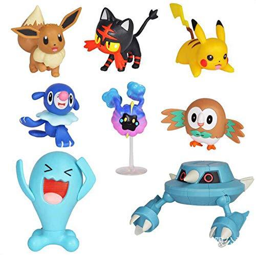 Slakr Pokemon Pokemon Pokémon Detective Pikachu Battle Collector Un Set di 8 ornamenti per modelli