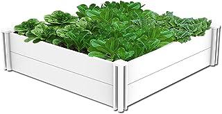 kdgarden Raised Garden Bed Kit 4'x4' Outdoor Above Ground Planter Box for Growing Vegetables Flowers Herbs, DIY Gardening,...