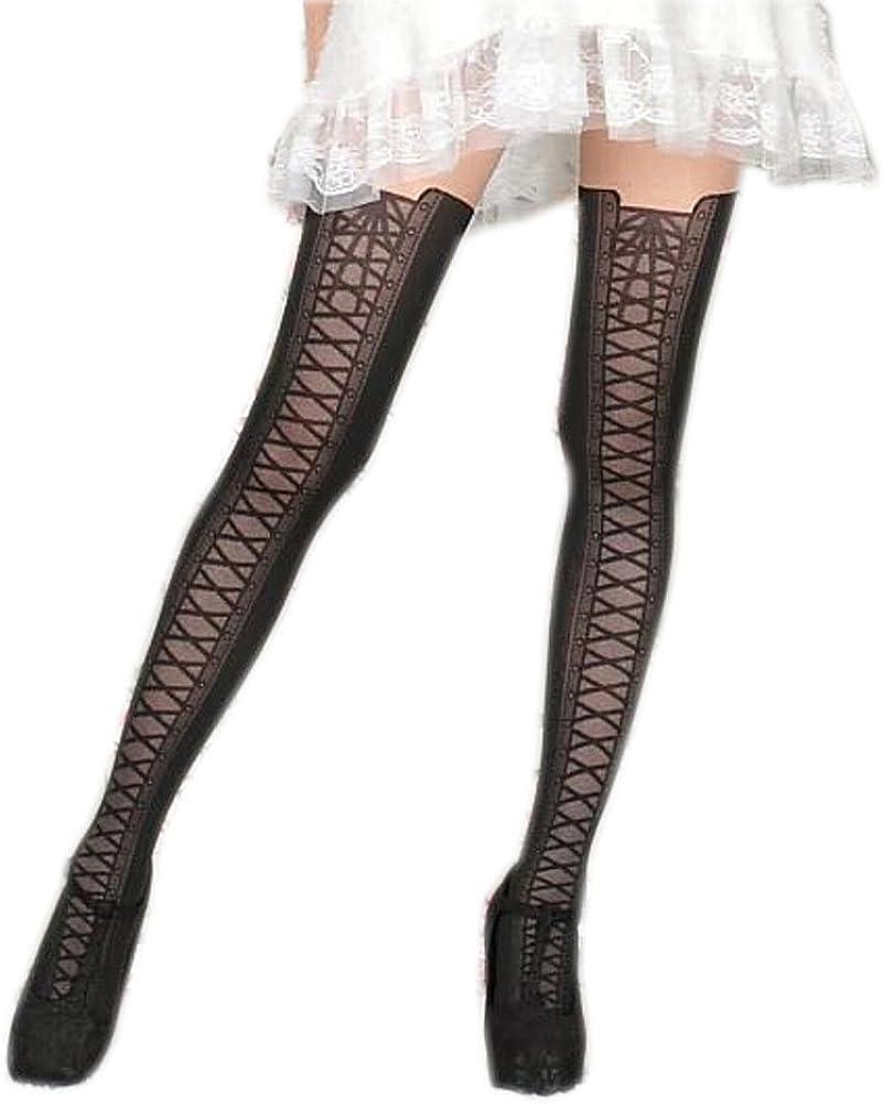 [BLACK] Women Girls Sexy Panting High Boots Stocking Tights