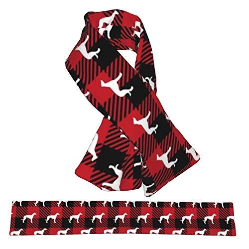 Bufanda cruzada de franela con diseño de galgo, de búfalo, bufandas de cuello a cuadros, de felpa, de doble cara, suaves y ligeras, para mujeres, hombres y adolescentes