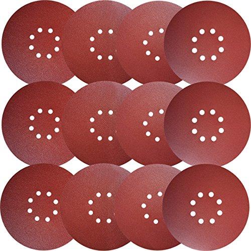 Sackorange 20 PCS 9-Inch 8-Hole Hook-and-Loop Sanding Discs Sander Paper for Drywall Sander (4 pcs Each of 60 80 120 150 240 Grits)