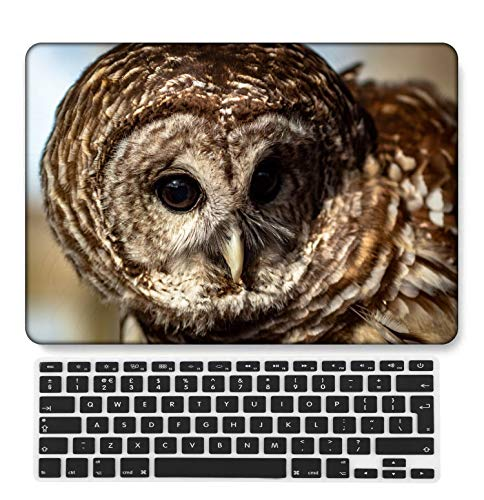 GangdaoCase Plastic Ultra Slim Light Hard Shell Case Cut Out Design Compatible New MacBook Pro 15 inch with Touch Bar/Touch ID with UK Keyboard Cover A1707/A1990 (Feather Series 0496)
