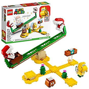 LEGO Super Mario Piranha Plant Power Slide Expansion Set 71365  Building Kit for Kids to Combine with The Super Mario Adventures with Mario Starter Course  71360  Playset  217 Pieces