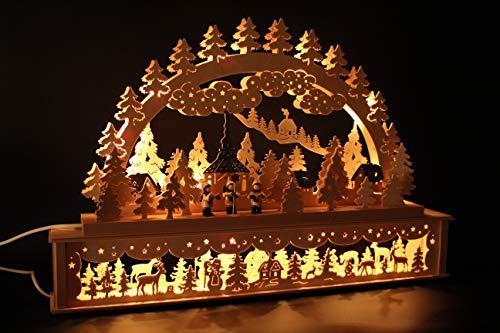 SchwibboLa 50 Original Erzgebirgischer Schwibbogen mit Erhöhung Lichterbogen XXL Verschieden Größen FREIE Auswahl (Motiv53: 72x45cm (BxH)) …, 1