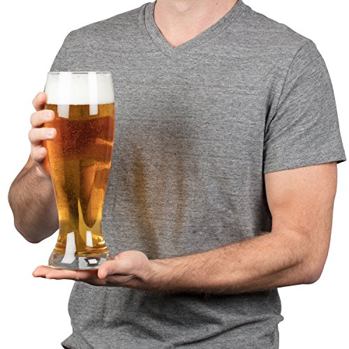 Extra Large Giant Beer Glass - Holds up to 4 Bottles of Beers