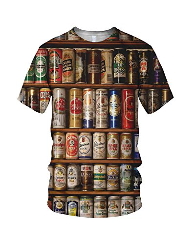 Latas De Cerveza Collective Hombre Moda Camiseta
