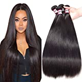 Bestsojoy 10A Brazilian Virgin Hair Straight 4 Bundles Brazilian Human Hair Extensions 100% Unprocessed Human Hair Weave...