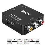 HDMI vers RCA, GANA 1080P HDMI vers AV | 3RCA Convertisseur Vidéo/Audio Composite...