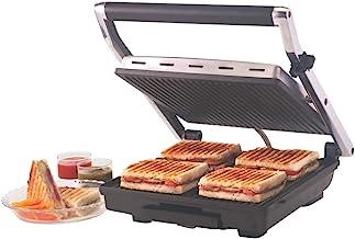 Borosil Super Jumbo 2000-Watt Grill Sandwich Maker (Black)