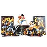 Rrfay 3 Unids/Lote 9-14 cm Japón Anime One Piece DXF Luffy Ace Sabo...