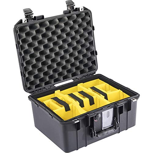 Peli Air Case 1507 Black with Division System, Divider Set, Photo Case, Protective Case, Waterproof, Dustproof, IP67