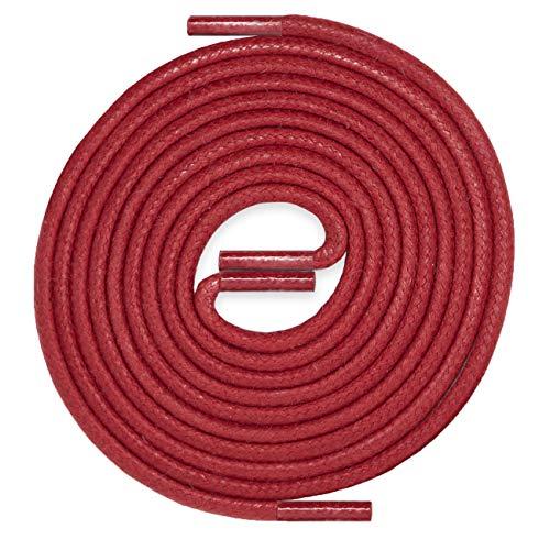 LACCICO Finest Waxed Laces ROT Durchmesser 2,5mm, robuste gewachste allround Schnürsenkel, Farbe:Rot, Länge:90 cm