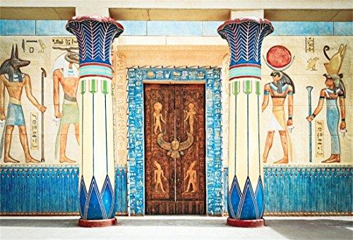 YongFoto 3x2m Foto Hintergrund Antikes Ägypten Szene Wandbilder Pharao Tempel Hieroglyphisch Ägyptischer Papyrus Fotografie Hintergrund Fotoshooting Portrait Fotografen Kinder Fotostudio Requisiten