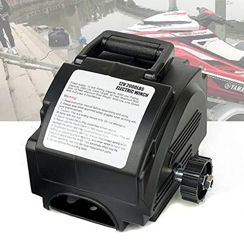 Cabrestante electrónico, 12 V, 906 kg, cabrestante eléctrico, polea de polea, con mando a distancia