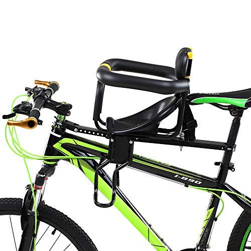 TMXK Front Fahrrad-Kindersitz, Fahrradhalterung Kinder Set Mit Armlehne Schutzleiste Und Pedal Für Mountainbikes, Trekkingbikes, Fitnessbikes