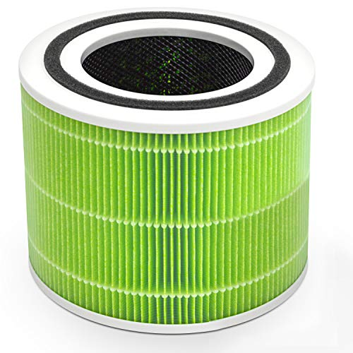 LEVOIT Core 300 Filtro de Repuesto para Purificador de Aire H13, Filtro HEPA 3 en 1, Filtro y Prefiltro de Carbón Activado Altamente Eficiente, Core 300-RF(Bacterias y Moho)