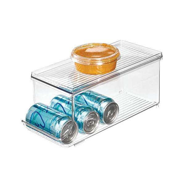 iDesign Caja organizadora para frigorífico con tapa, organizador de nevera