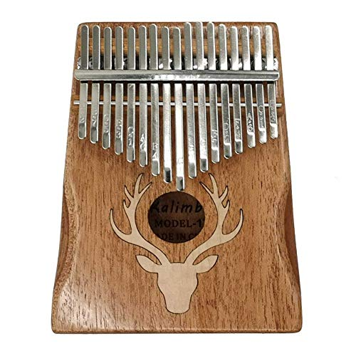 ZIEO Pocket Thumb Finger Piano17 Tasten Kalimba Elk Thumb Piano Tragbares Musikinstrument Dreamy Elk Maple Type Finger Daumen Klavier