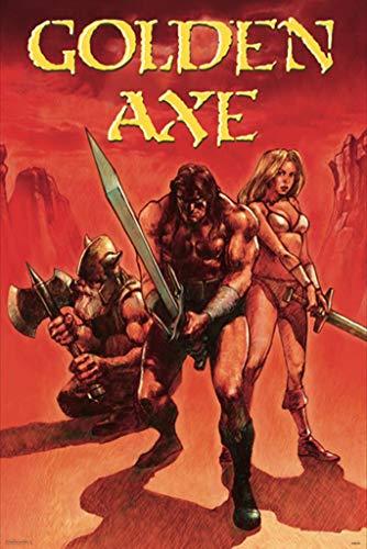 Pyramid America Golden Axe Red Sega Genesis Classic Video Game Cool Wall Decor Art Print Poster 24x36