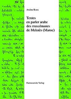 Textes En Parler Arabe Des Musulmanes de Meknes (Maroc)