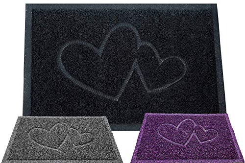 Majo Lifestyle Fussmatten Innenbereich und Außenbereich - Badezimmer Teppich - Robuste Haustür Fußmatten - Fussabtreter Geschenk - Haustiermatte - Willkommen Fußmatte außen (Schwarz)
