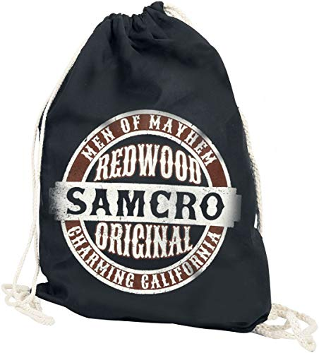 Sons Of Anarchy Samcro Unisex Bolsa Deporte Negro, 100% algodón,