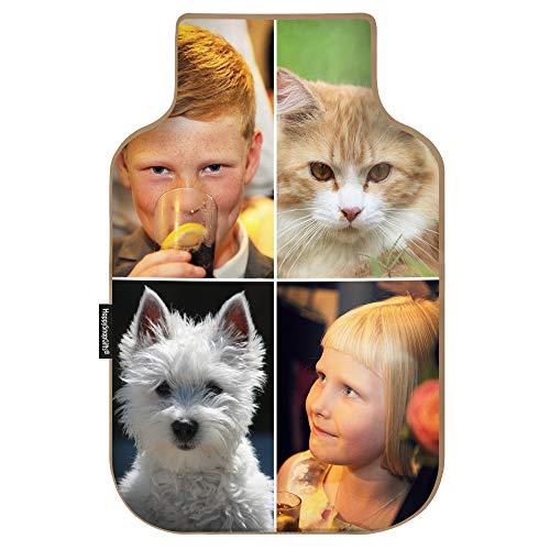 WheatyBags® Wärmekissen für die Mikrowelle, personalisierbar, Fotoflaschenform, für die Mikrowelle