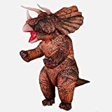 Inflatables Dinosaur Costume for Adult Blow up Triceratops Costumes Funny Dino Halloween Costume