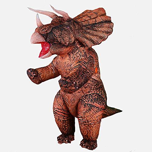 Rafalacy Aufblasbares Jurassic Triceratops-Kostüm, Outfit für Erwachsene, Dinosaurier-Kostüm, lustiges Luftblasenkostüm, Party, Fancy Dinosaurier Anzug