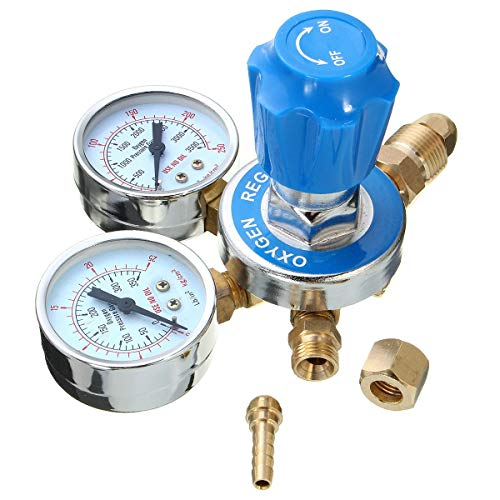 No branded Gas Torch Cutting Oxygen Regulator Solid Brass Welding Fit Victor Pressure Reducer Mig Tig Flow Meter Home Tool