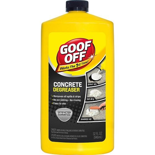 NATIONAL MFG/SPECTRUM BRANDS HHI FG820 32OZ Goof Off, 32 OZ, Degreaser, Removes Embedded Oil from Concrete, No Scrubbing, No Rinsing, Liquid Dries to Powder, Easy to Use