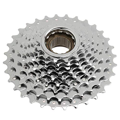 OKBY 9 Speed Rotating Freewheel - Bike 9 Speed Rotating Freewheel Threaded Flywheel Replacement Accessory for Bicycle