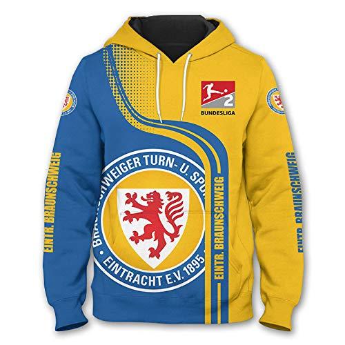 N/A-SHAOFA Männer Hoodies Zum Eintracht-Braunschweig 3D Drucken Kapuzenpullover Pullover/Zip Jacke Unisex Sweatshirts Jersey Sport / A1 / XXXXL