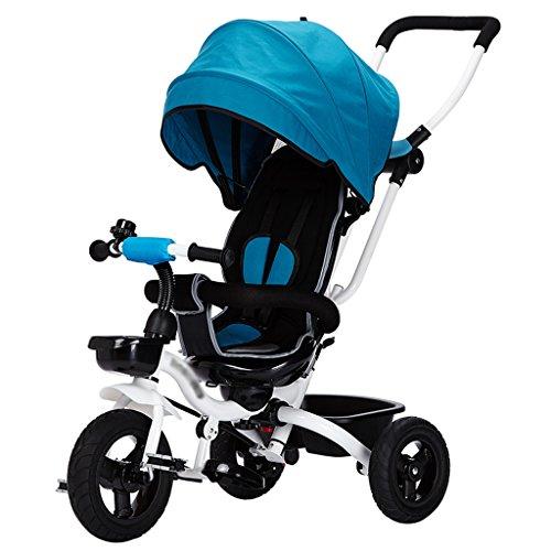 Veilige luifel met wielen van de driewieler, 3 richtingen voor kinderen met draaibare zitting, kinderwagen met de trolley van Oxford-stof.