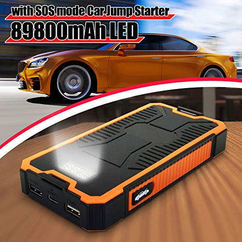 Draagbare autostarthulp voeding 89800 mAh batterij booster USB Power Bank 9V 2A snellader Dual USB-uitgang met display