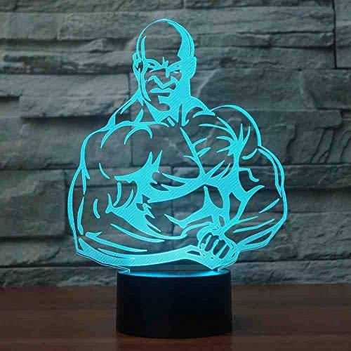 RJGOPLLLA LED-tafellamp met 7 kleuren wisselt het licht in de nacht van de spieren creatieve Lampara Sleep Home Decor planken