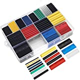 Ginsco 580 pcs 2:1 Heat Shrink Tubing Kit 6 Colors 11 Sizes Assorted Sleeving Tube Wrap Cable Wire Kit for DIY
