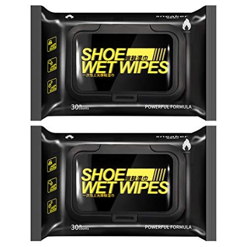 Holibanna 2 Paquetes de Toallitas Desechables para Zapatos Limpiador Rápido Y Fácil Toallitas Desechables Portátiles para Viajes Elimina La Suciedad Toallitas Húmedas 1 Paquete para 30