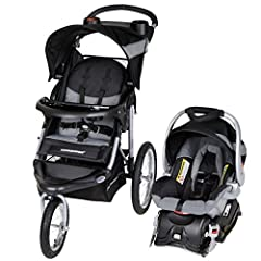 Large bicycle tires roll effortlessly over all surfaces Convenient Parent Tray with 2 Cupholders Front Swivel Wheel for easy maneuvering, locks for jogging Reclining Padded Seat with 5 point harness, tether, large canopy and storage basket Easy Compa...