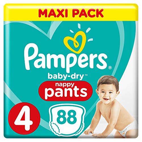 Pampers Baby-Dry Pants, Gr. 4, 9kg-15kg, Dreier-Pack (1 x 88 Windeln)