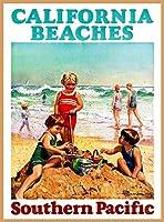 ERZAN風景 知育 puzzleカリフォルニアビーチ南部太平洋ビンテージ旅行広告ジグソーパズル500ピース