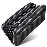 [TSUNEO] 財布 メンズ 長財布 YKK ラウンドファスナー 牛革 大容量 さいふ ビジネス 紳士 小銭入れ ブラック