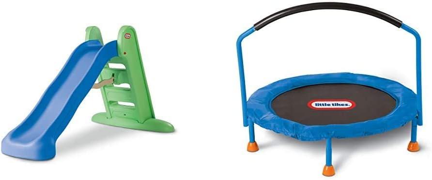 Little Tikes Easy 出色 Store Large 新作販売 Slide Amazon 3' Trampoline – Exc