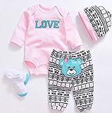 LLX Moda Ropa De Bebé Recién Nacido Reborn Baby Girl Doll Ropa para 20-22 Pulgadas 50-55 Cm Doll...