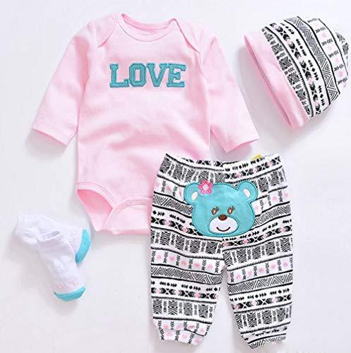 LLX Moda Ropa De Bebé Recién Nacido Reborn Baby Girl Doll Ropa para 20-22 Pulgadas 50-55 Cm Doll Gifts,A