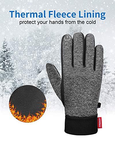 Anqier Handschuhe Herren Damen Touchscreen Fahrradhandschuhe Winter Winddicht Winterhandschuhe Outdoor zum Laufen Wandern Reiten Bergsteigen - 2